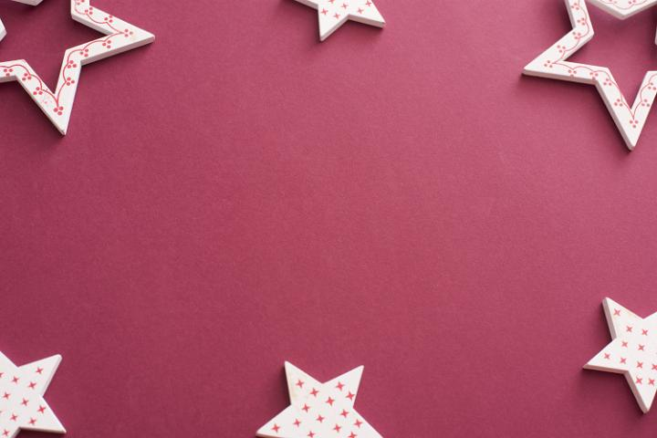 photo of decorative red and white star border or frame