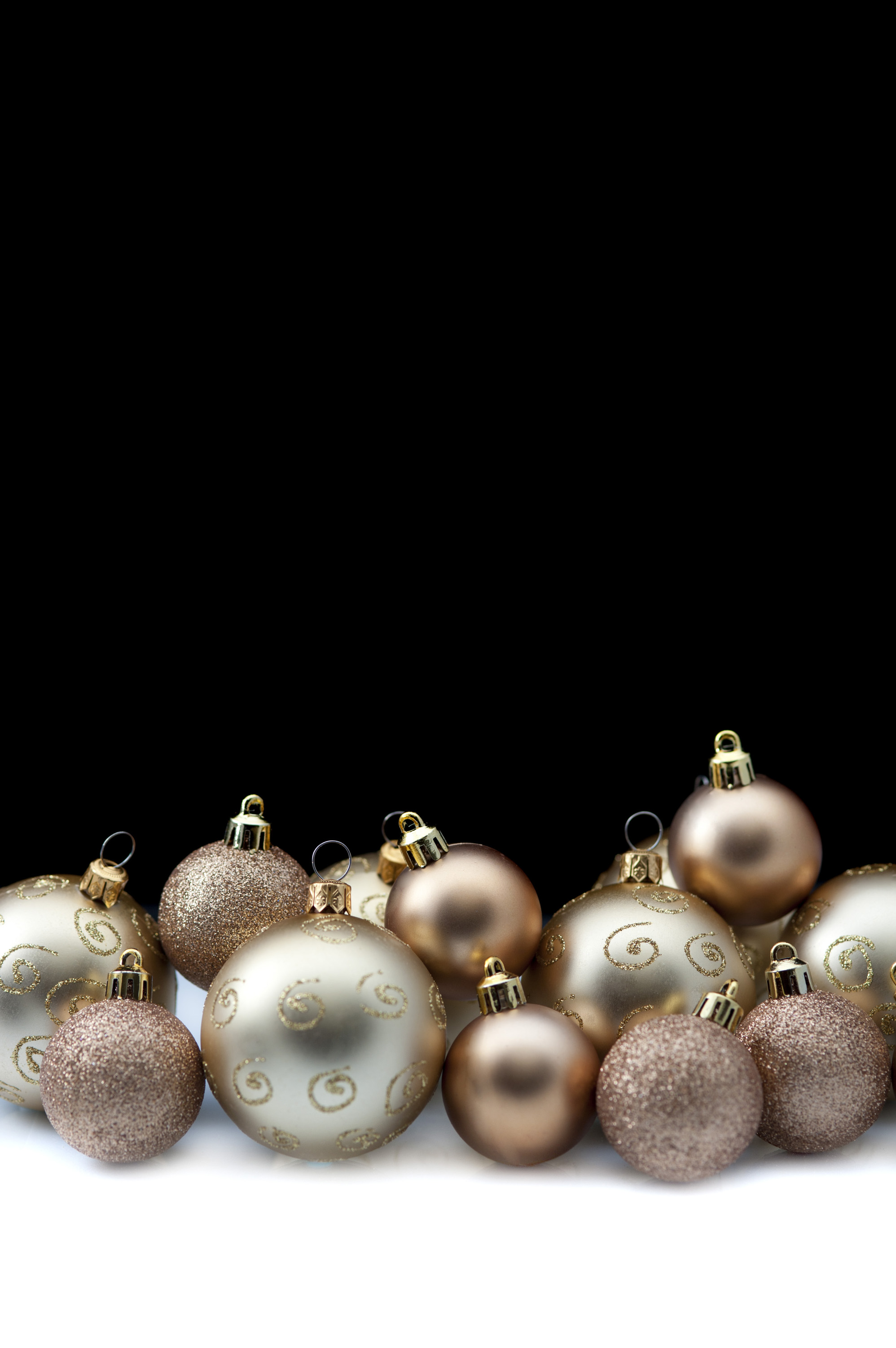 Photo Of Golden Baubles Background Free Christmas Images