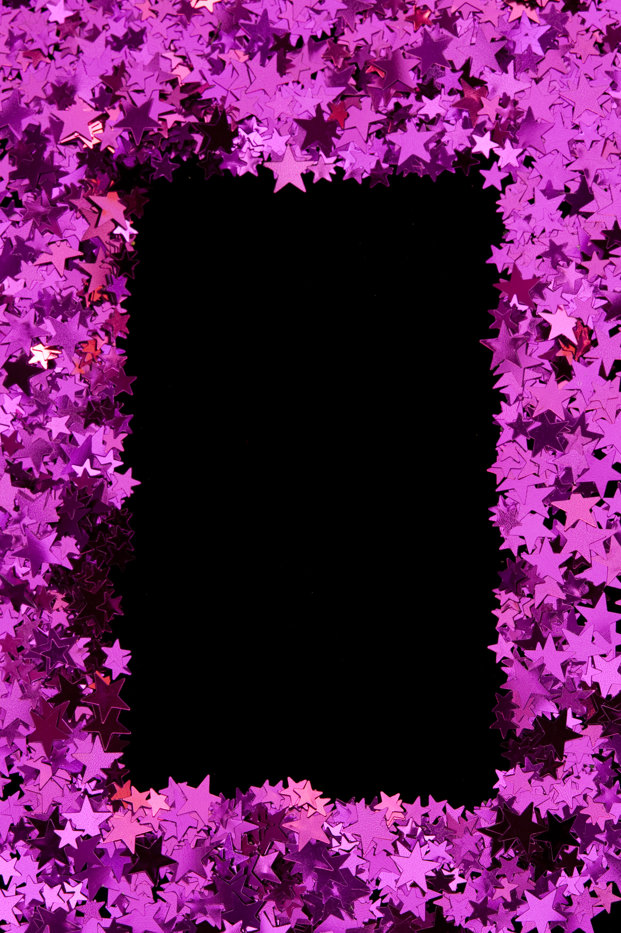 a border of magenta pink stars to composite as a picture frame or add text