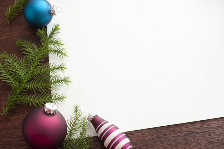 Photo Of Christmas Tree Branches Aand Baubles Free