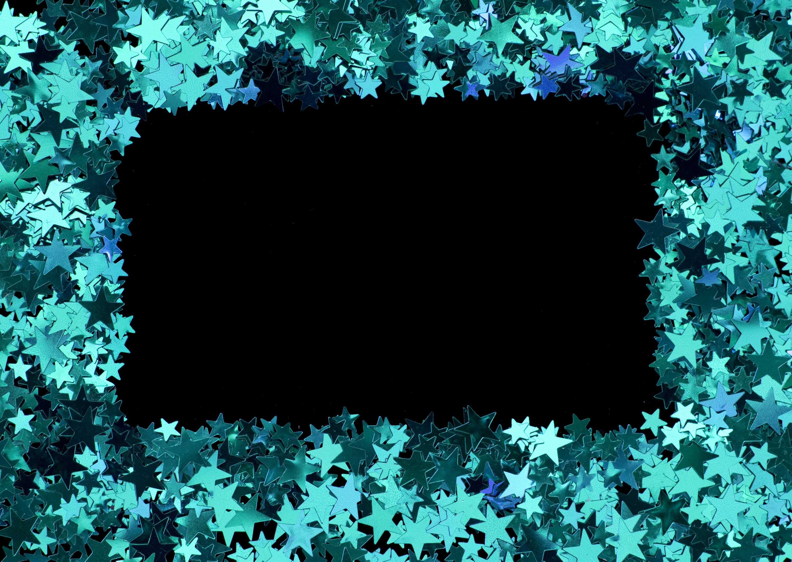a sparkling blue border of stars to composite as a picture frame or add text