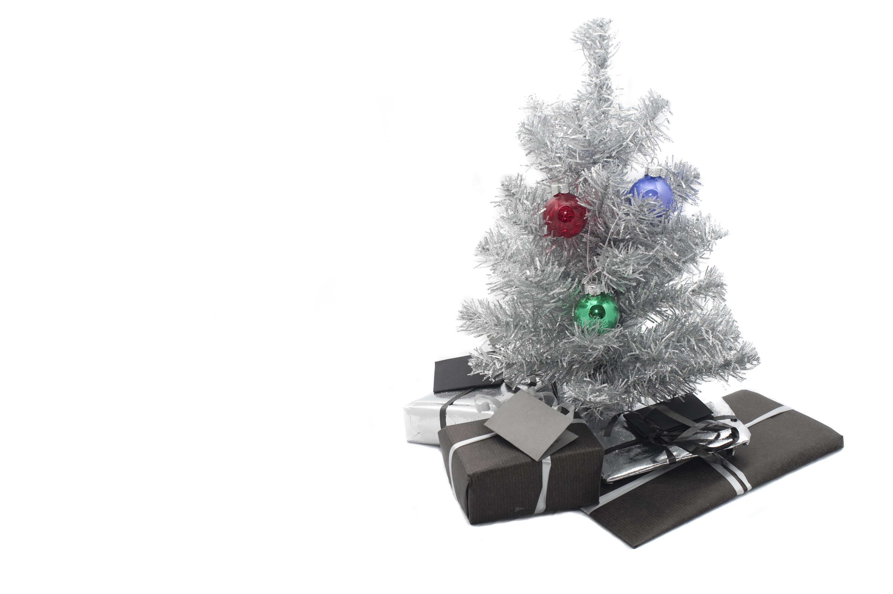 Isolated Tree And Gifts