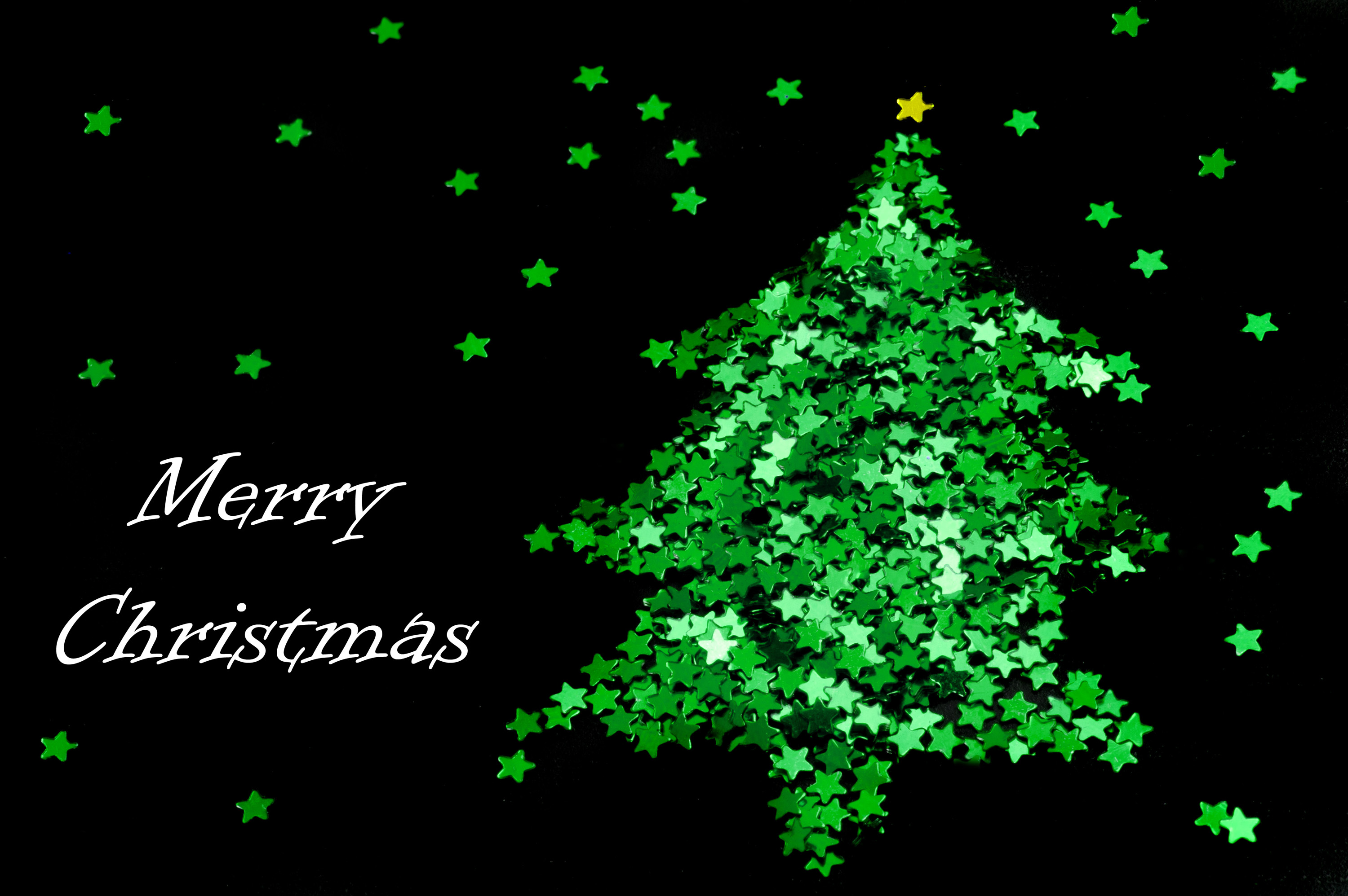 Photo of Green star Christmas tree  Free christmas images