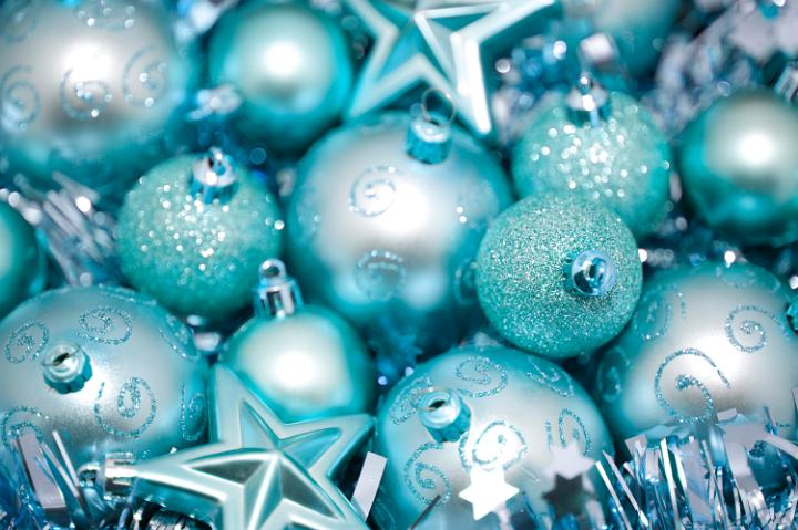 Photo of cyan blue christmas baubles free christmas images for Background decoration images