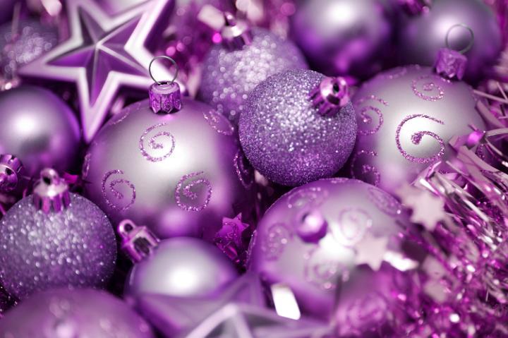 Purple Tree Decorations