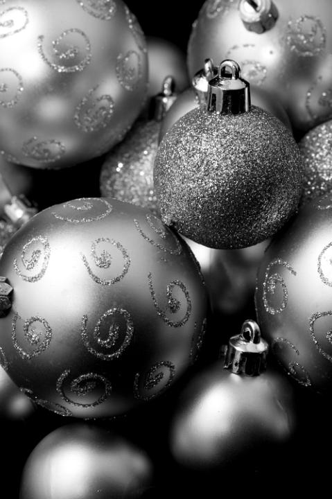 Image Result For White And Silver Christmas Tree Decorations
