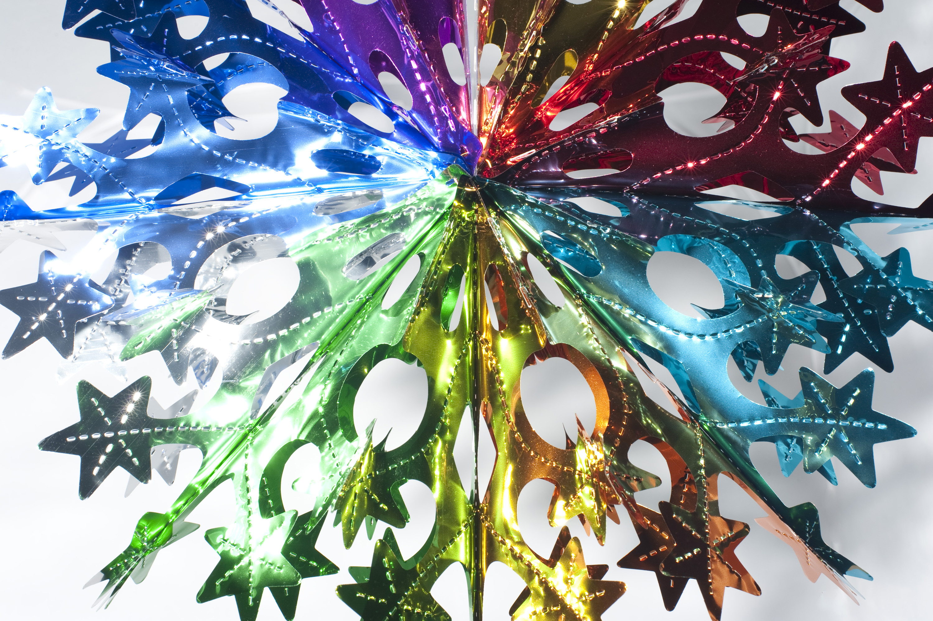 a retro fold out hanging star christmas decoration