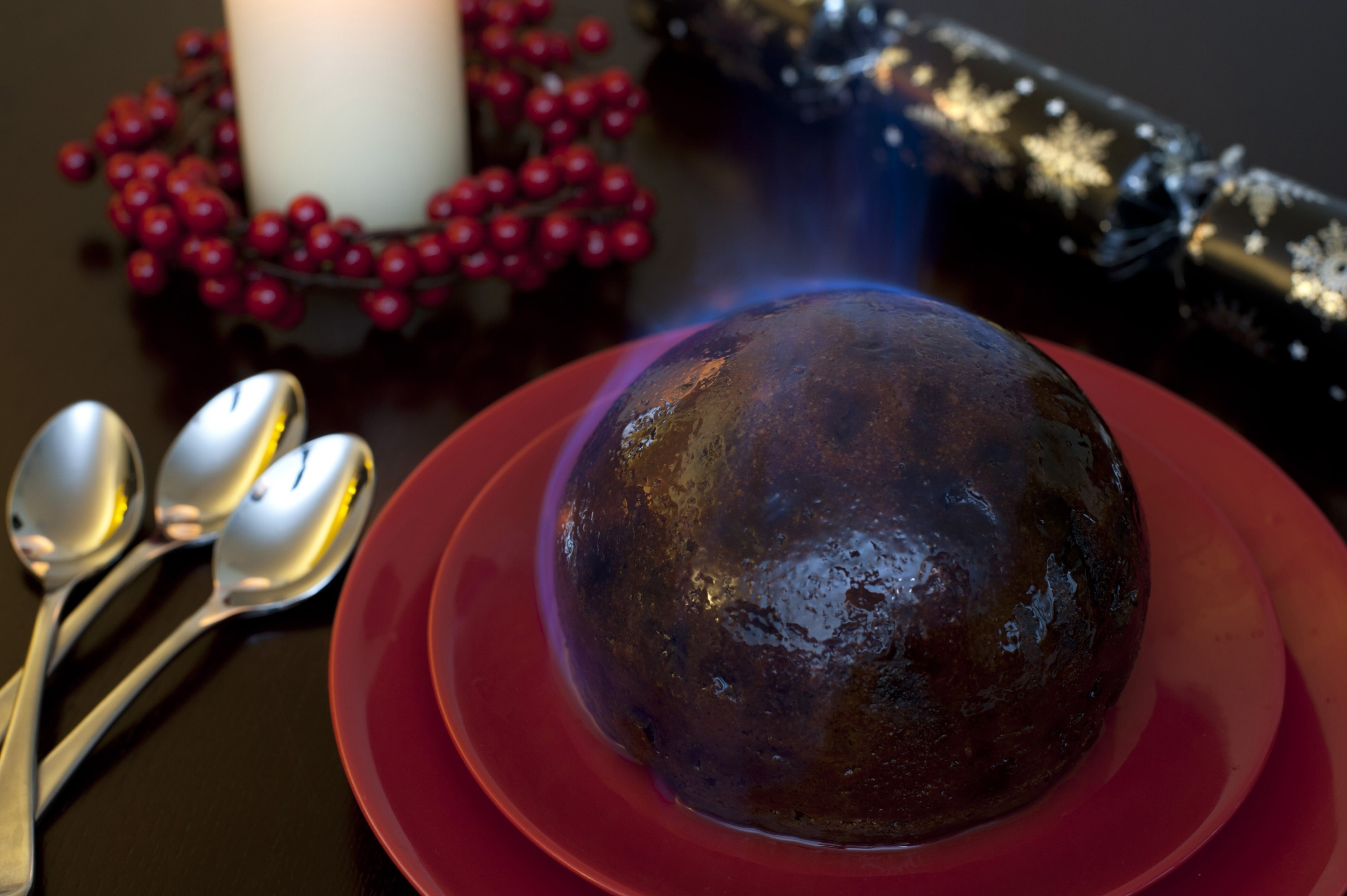 Photo Of Flaming Christmas Pudding Free Christmas Images
