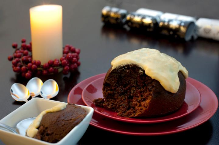 Photo Of Delicious Fruity Christmas Pudding