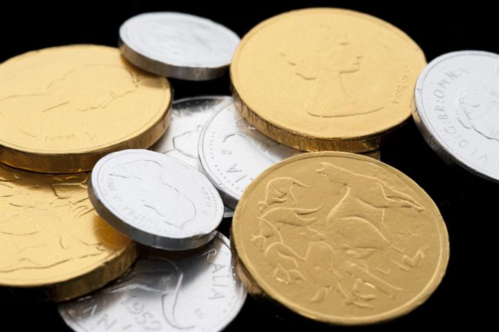 Photo Of Festive Gold And Silver Candy Coins Free
