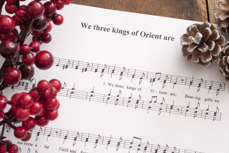 Photo of Christmas carol festive background   Free christmas images