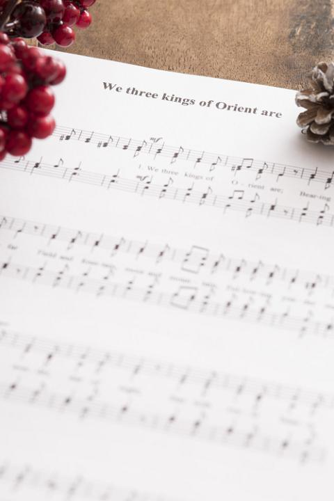 Photo Of Christmas Carol Music Background Free Christmas