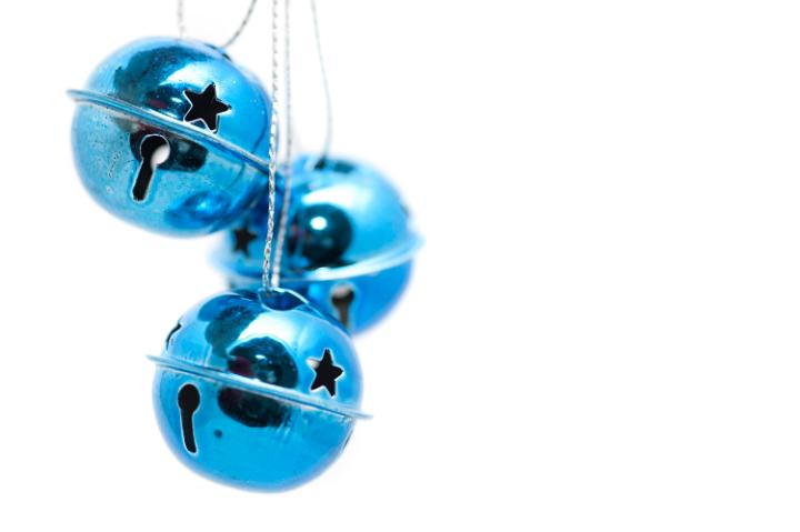 Photo of blue christmas bells free images