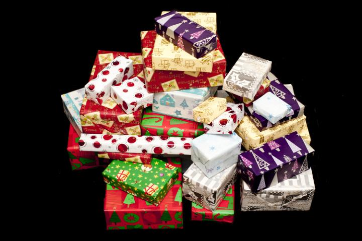 Photo of Large pile of colorful isolated Christmas ...