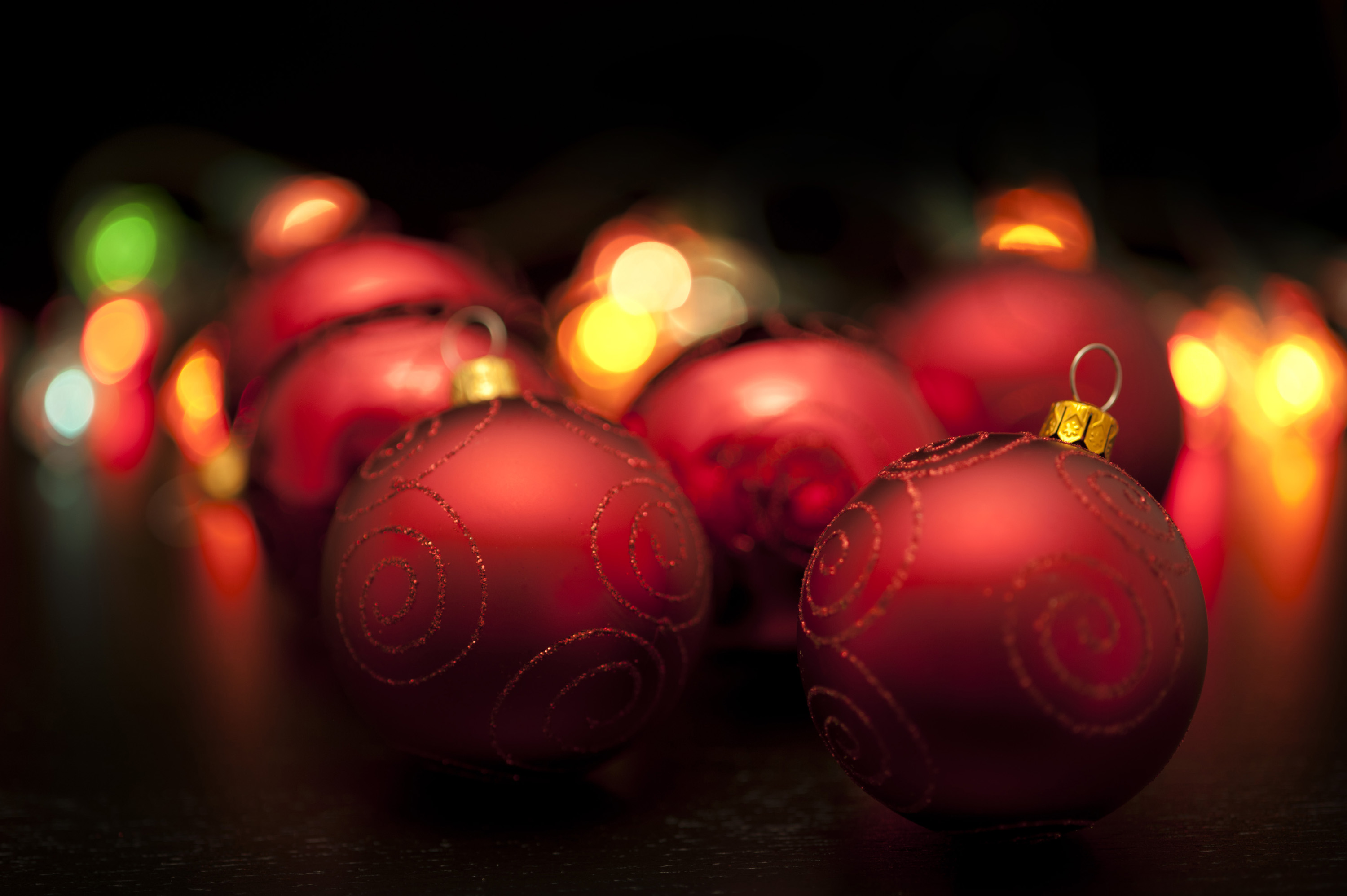 Christmas Baubles And Lights