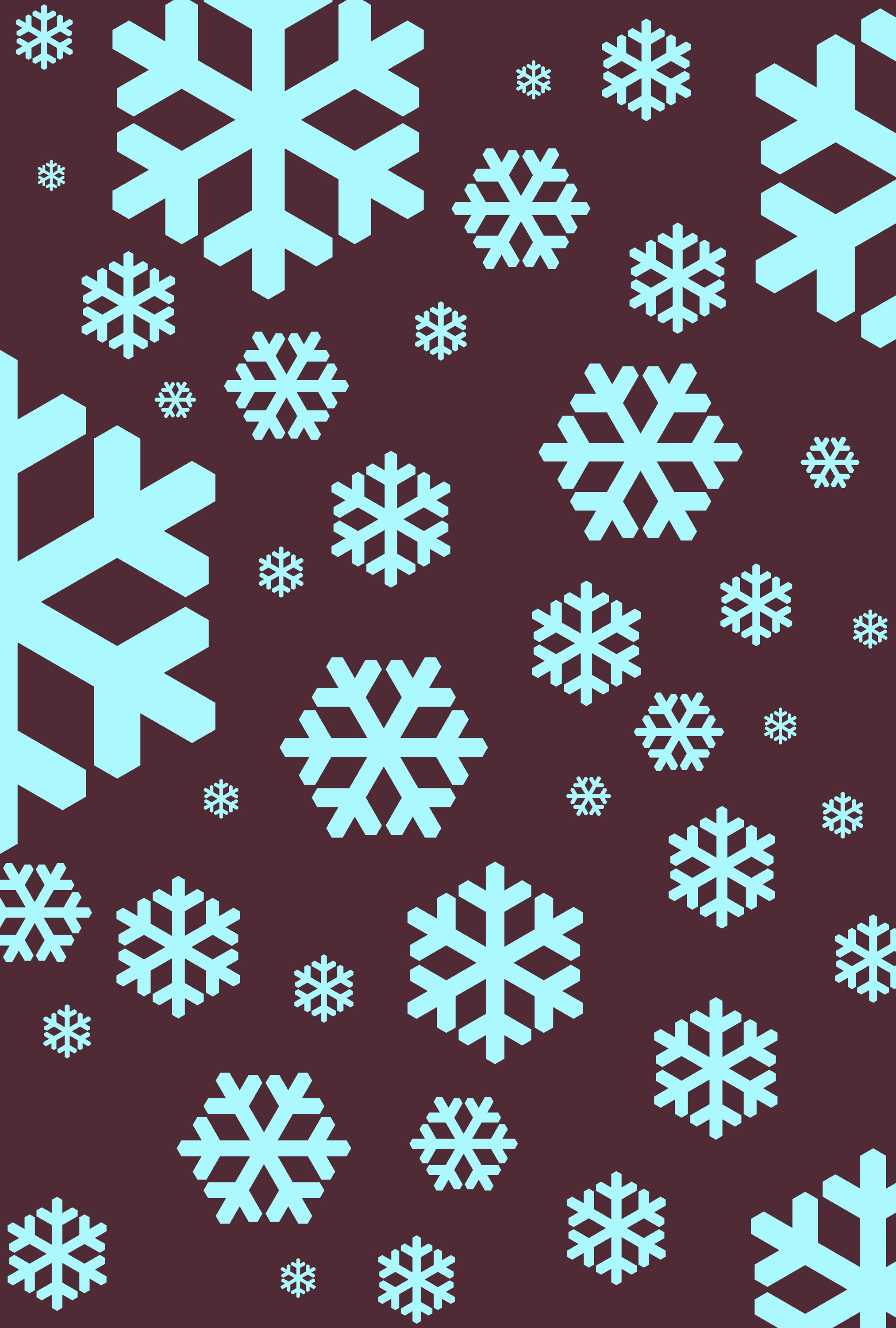 a seasonal winter background of falling blue snow flakes