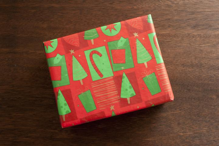 Photo Of Christmas Present On Wooden Table Free Christmas Images