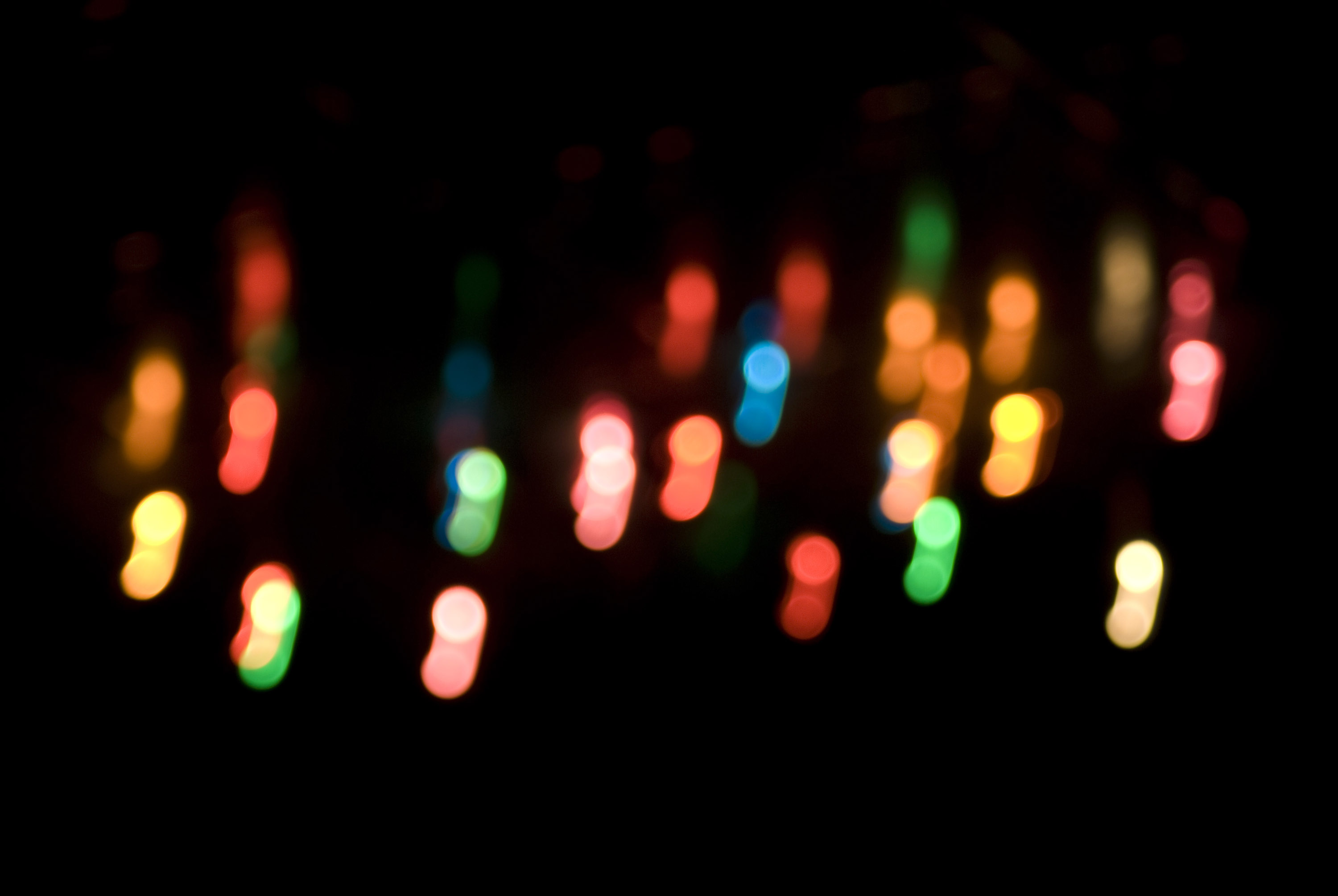 abstract light blur effect composed of colorful christmas lights
