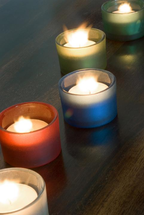 photo of diwali candles