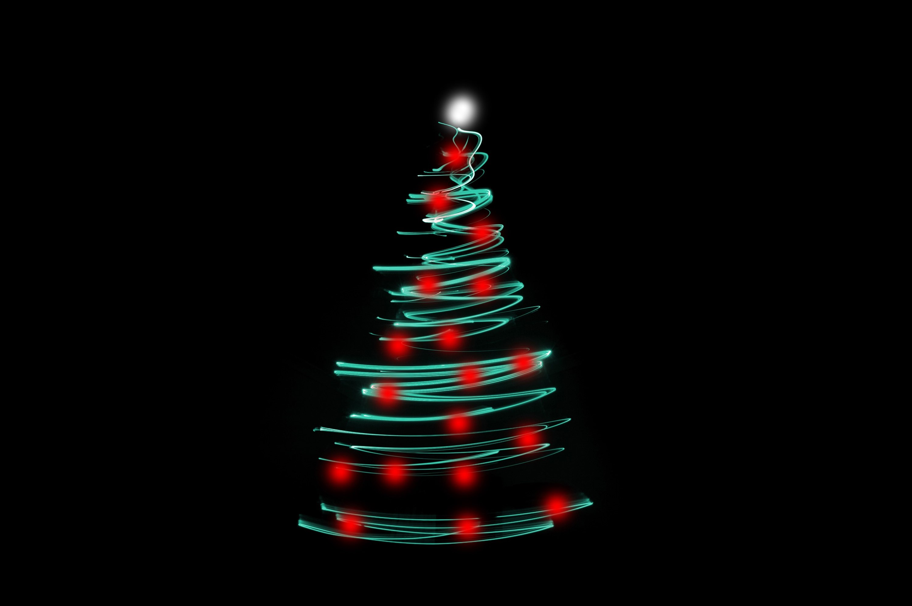 christmas tree light with a modern abstract zig zag shape depicting a conical christmas tree