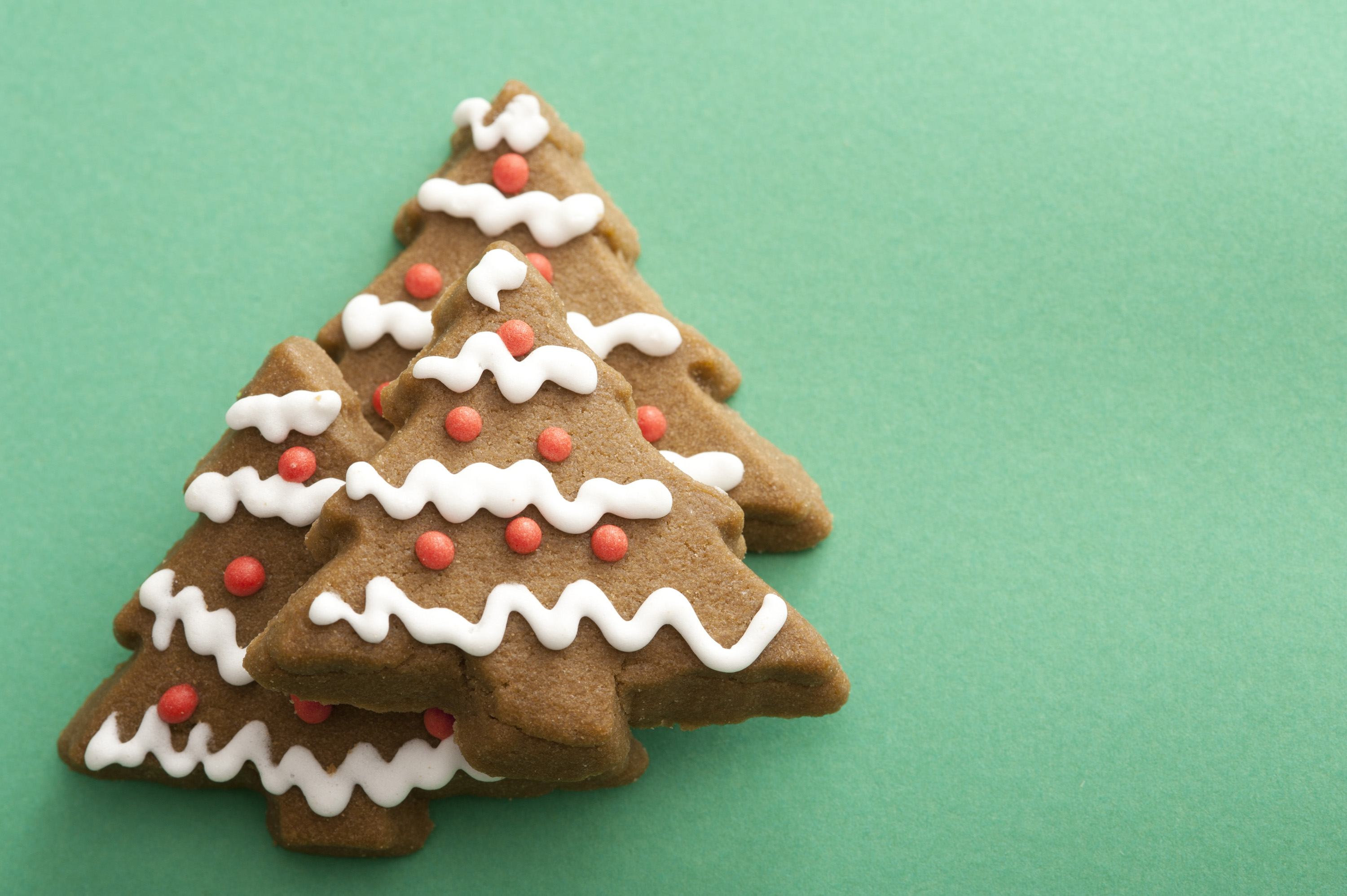 Photo Of Decorative Iced Gingerbread Christmas Tree Cookies Free