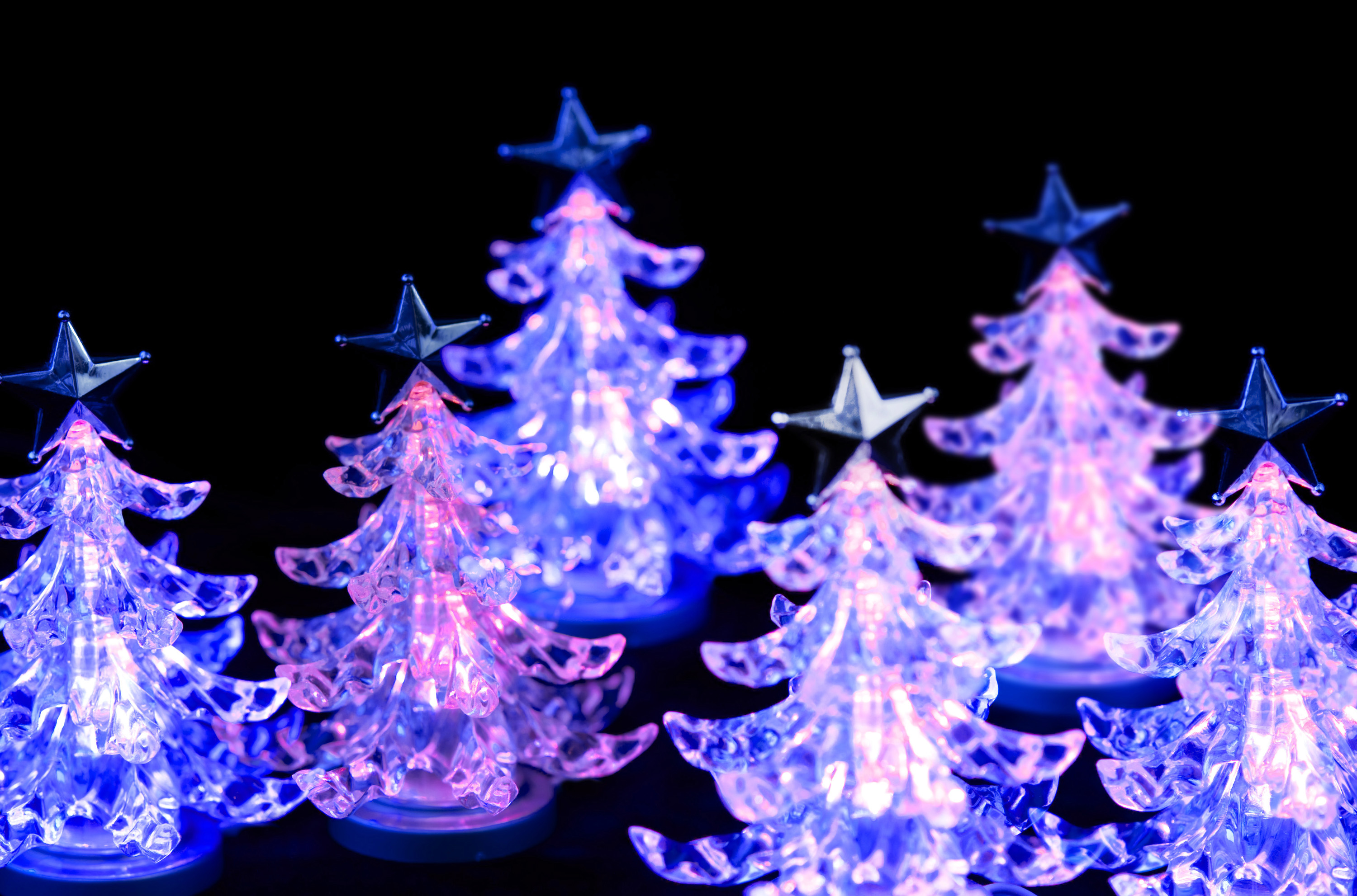 Photo Of Pink LED Christmas Trees