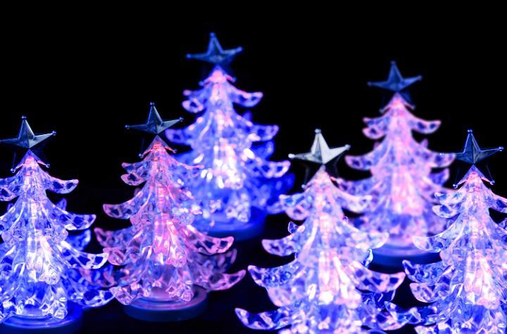 Photo Of Pink LED Christmas Trees