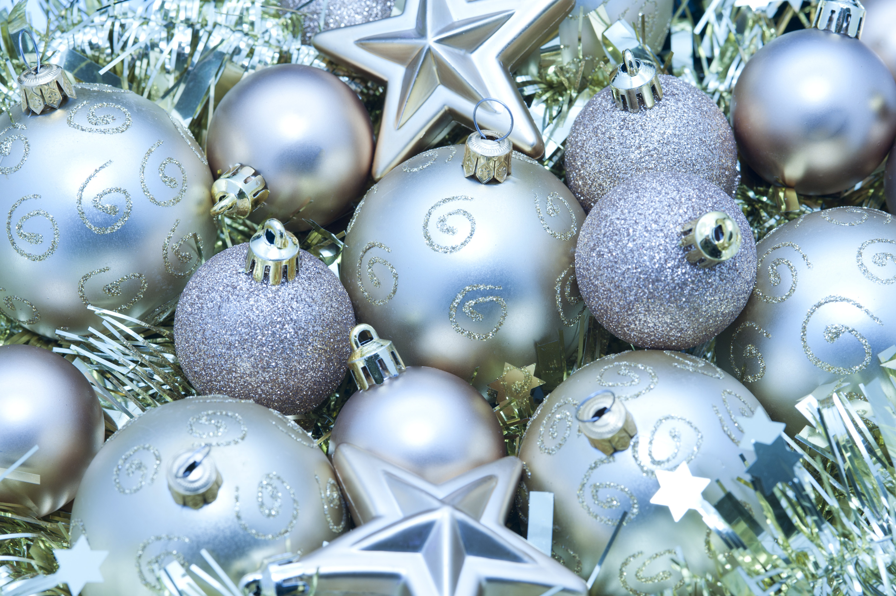 Photo of silver festive decorations free christmas images