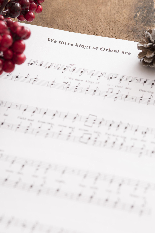 Christmas Music Background.Photo Of Christmas Carol Music Background Free Christmas