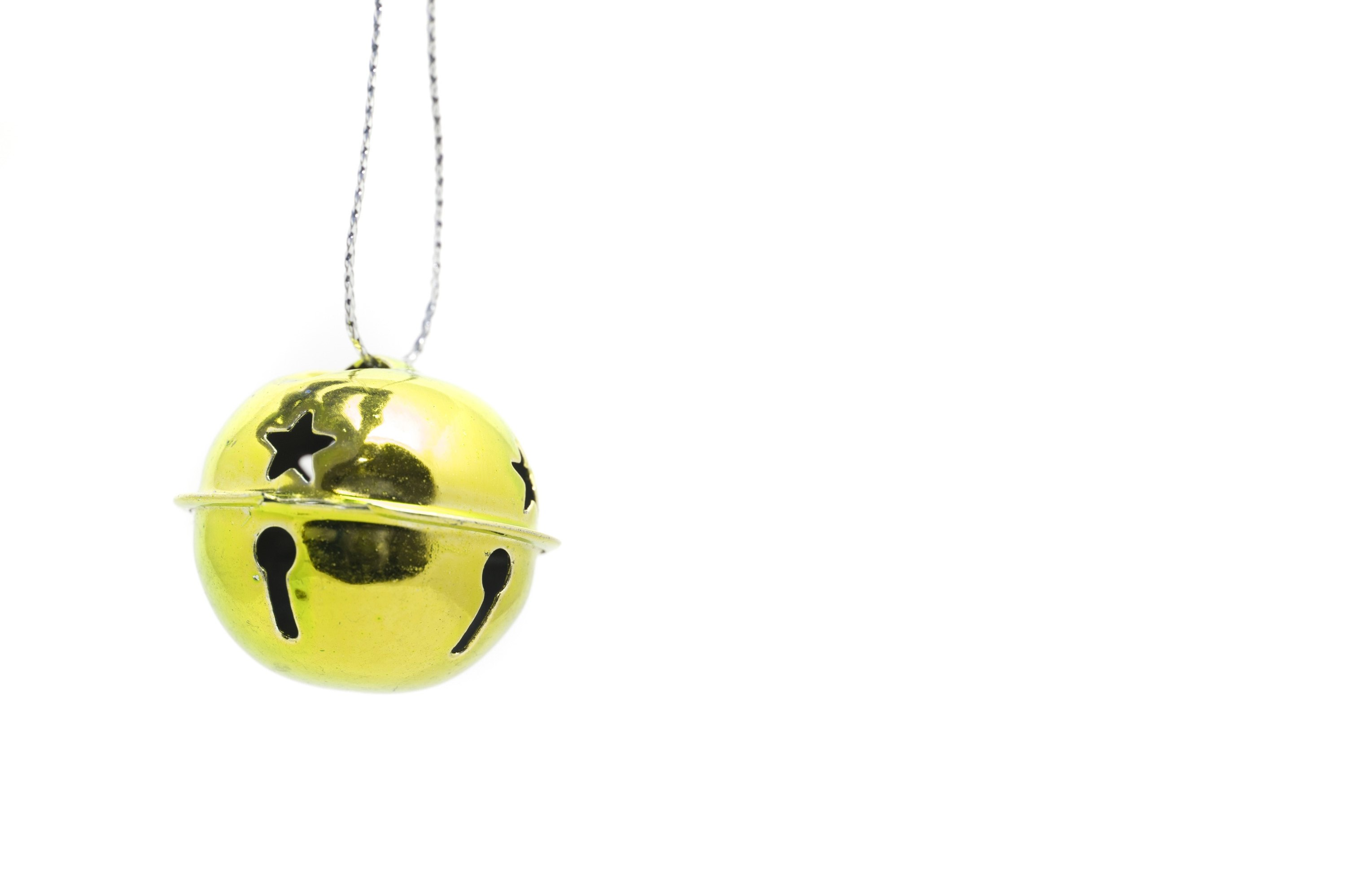 photo of single gold jingle bell free christmas images