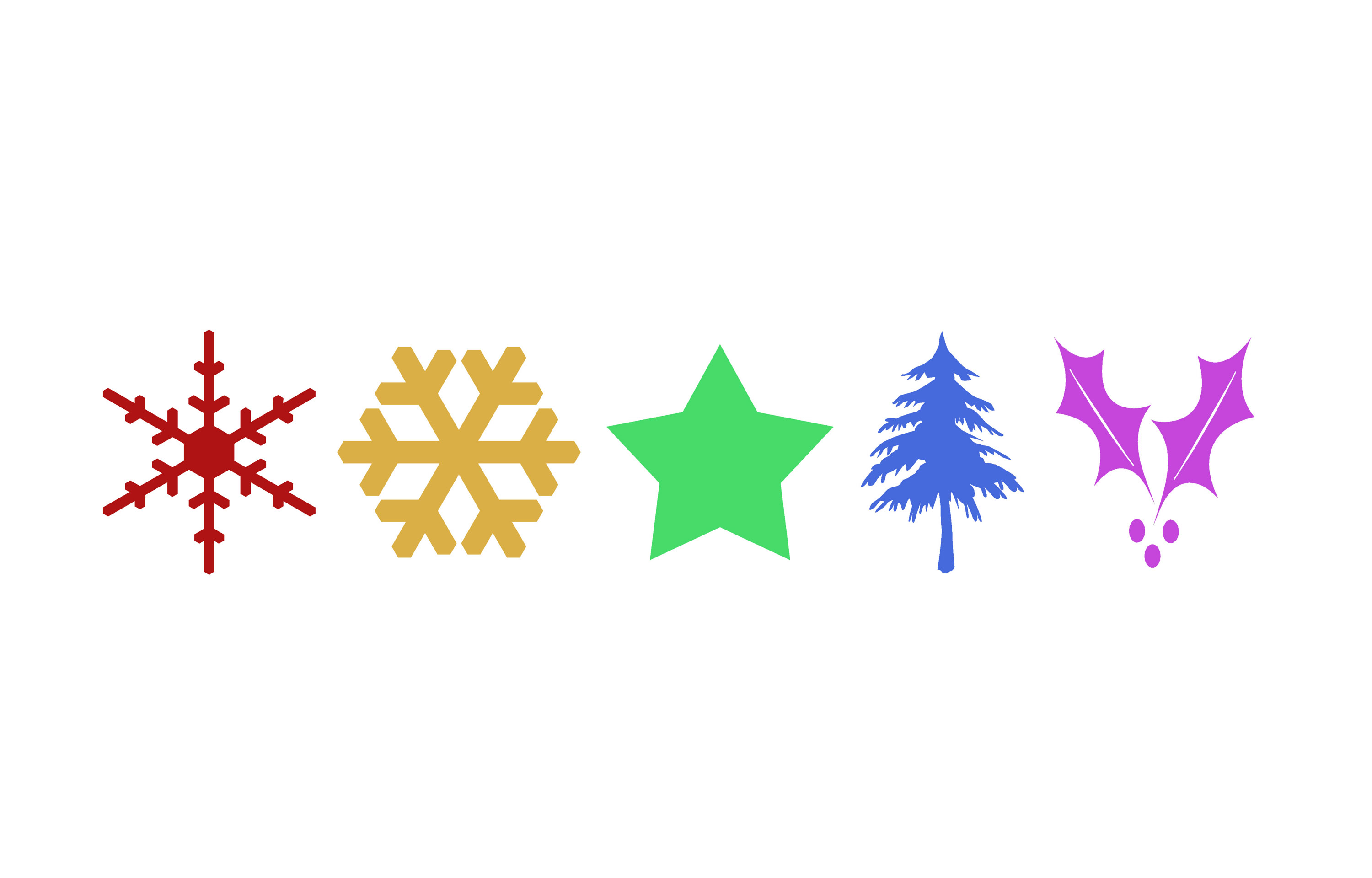 christmas clip art leaves