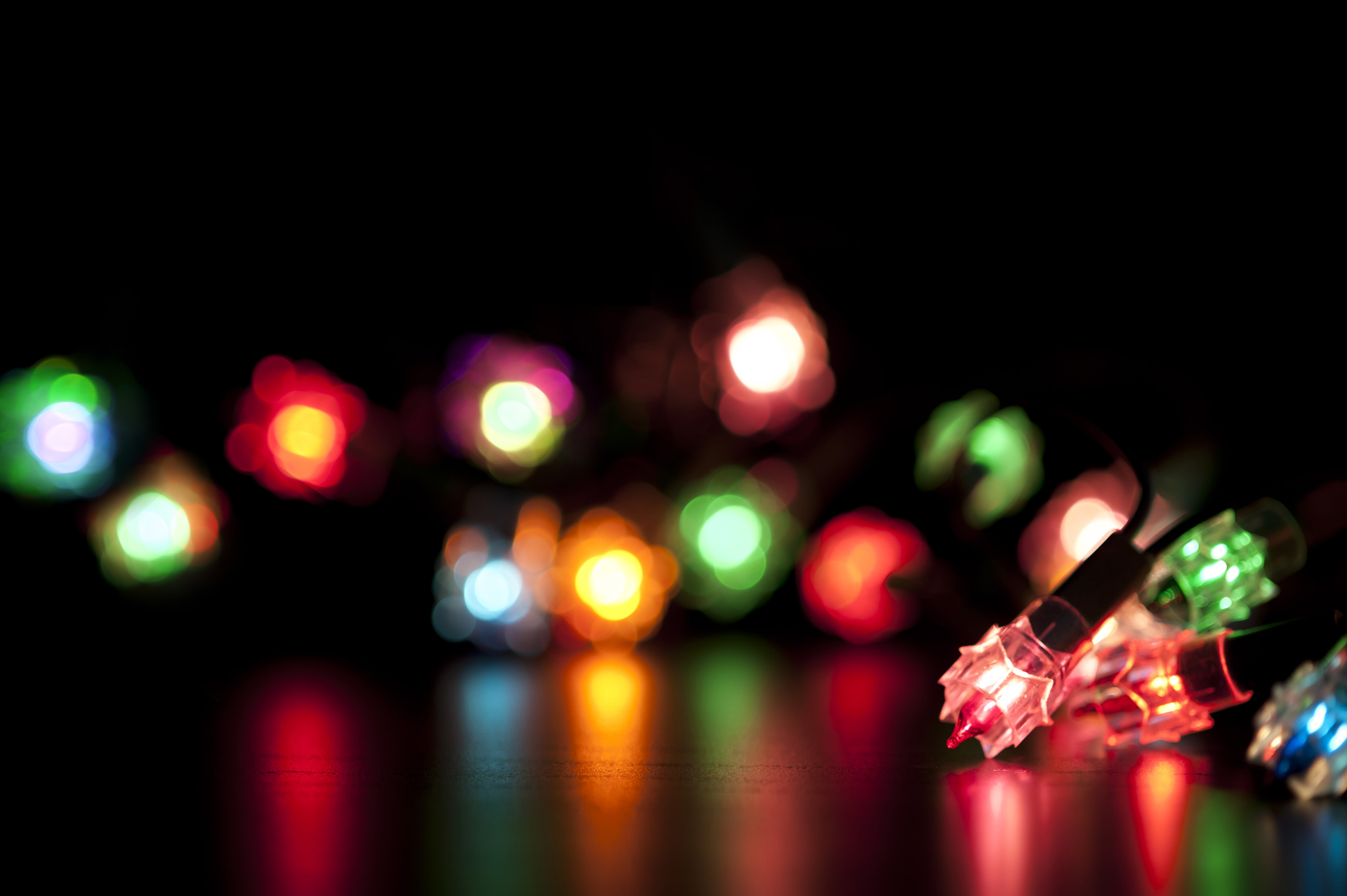 Free Christmas Lights.Photo Of Colourful Christmas Lights Free Christmas Images